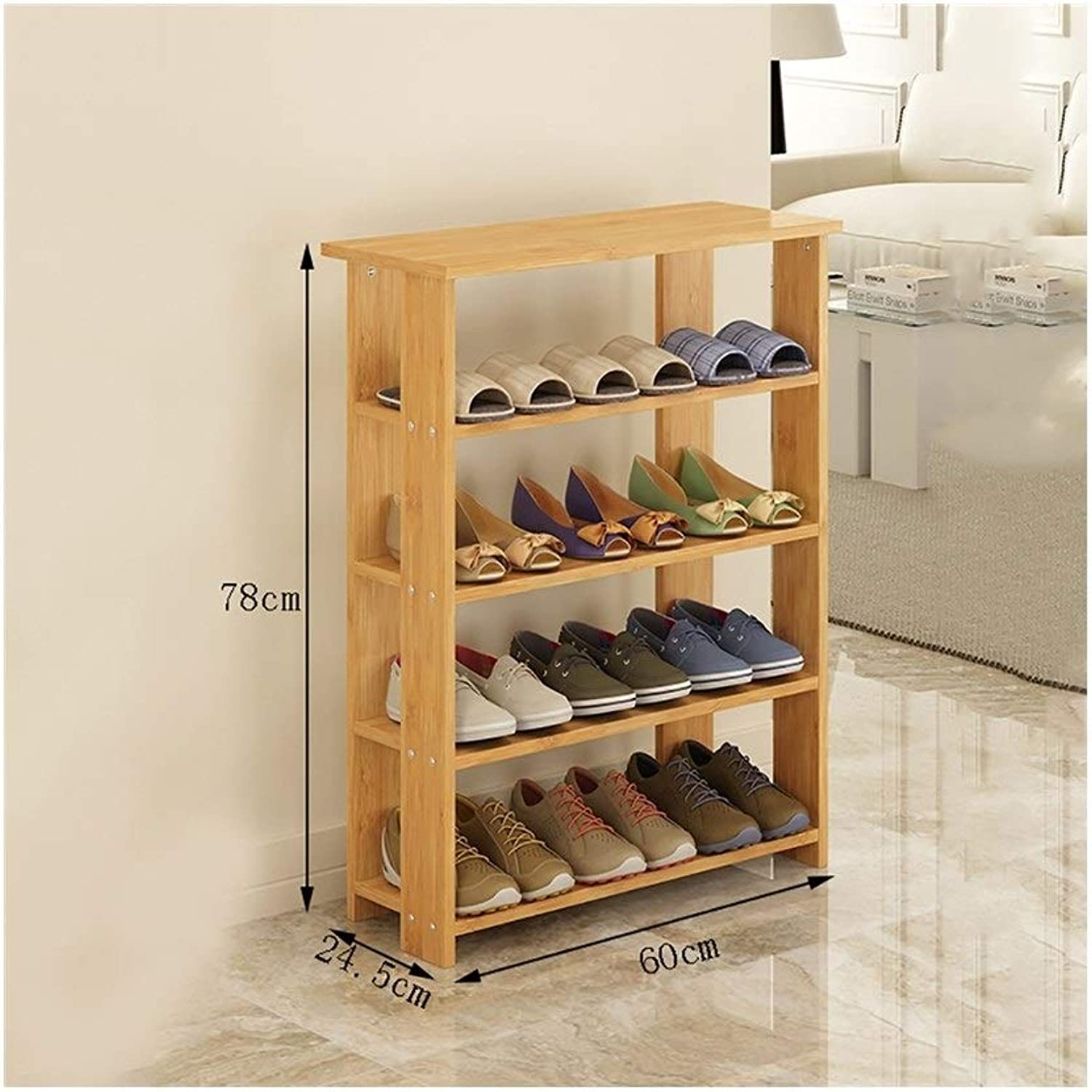 shoes Rack Organizer Storage, Solid Wood shoes Racks, Multi-Layer Home shoes, dust-Proof Racks, Multi-Functional Storage cabinets. (Size   60  24.5  78CM)