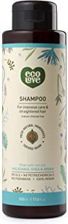 ecoLove Natural Shampoo for Straightened Hair and Dry Damaged Hair with Organic Moroccan Argan Oil Macadamia Oil and Shea ...