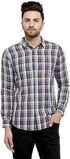 MAFATLAL Men Checkered Long Sleeve Casual Shirt.
