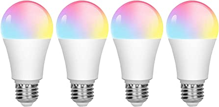 Dcolor 4Pcs Tuya Smart Wifi Bulb E27 850Lm RGB 2700K to 6500K 9W Bulb Can Compatible Alexa Home