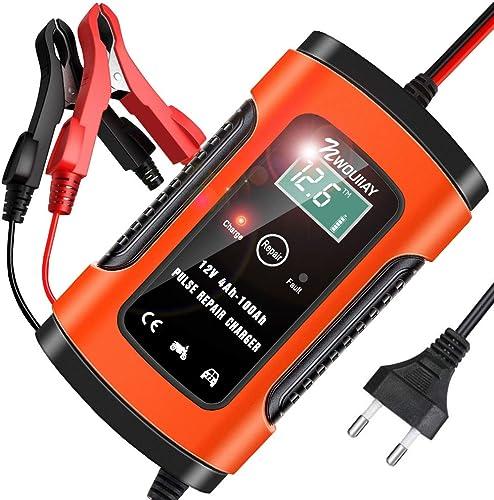 NWOUIIAY Chargeur de Batterie Voiture Intelligent 6A/12V Fonction de réparation Mainteneur Protections Multiples pour...