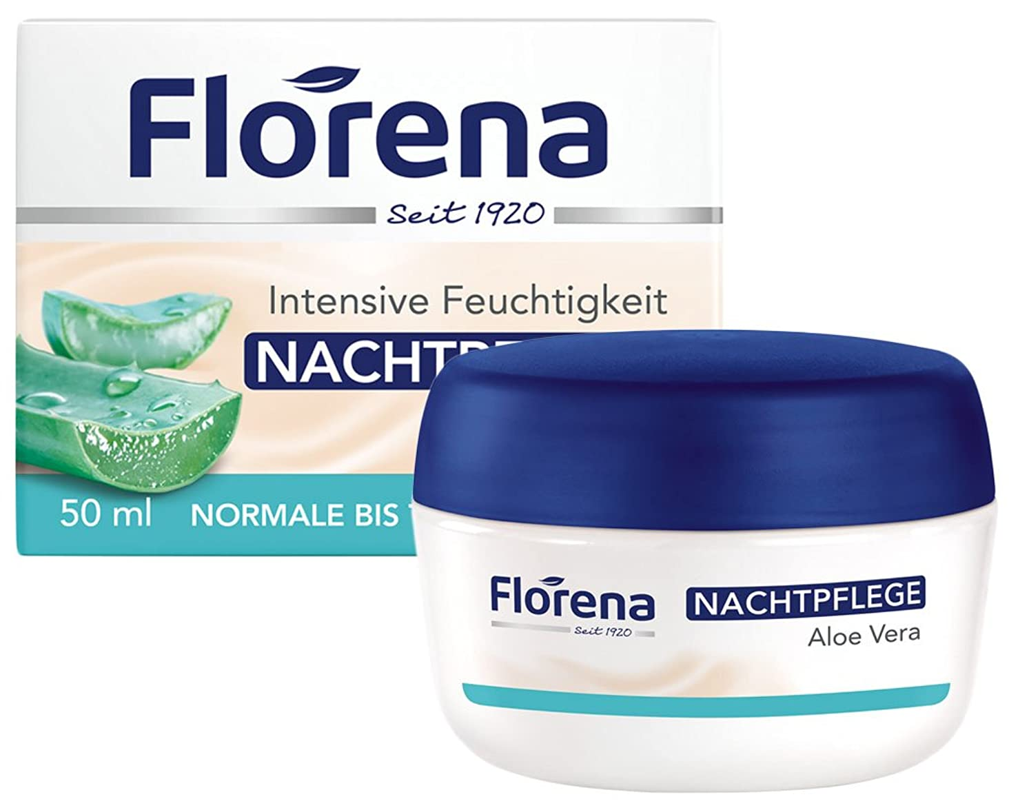 目の前のしっとり首Florena(フロレナ) フェイス ナイトクリーム アロエベラ