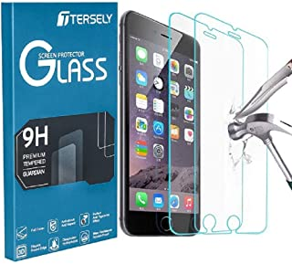 TERSELY [2 Packs] Screen Protector for iPhone 8 Plus/iPhone 7 Plus/iPhone 6s Plus/iPhone 6 Plus, Case Friendly Tempered Gl...