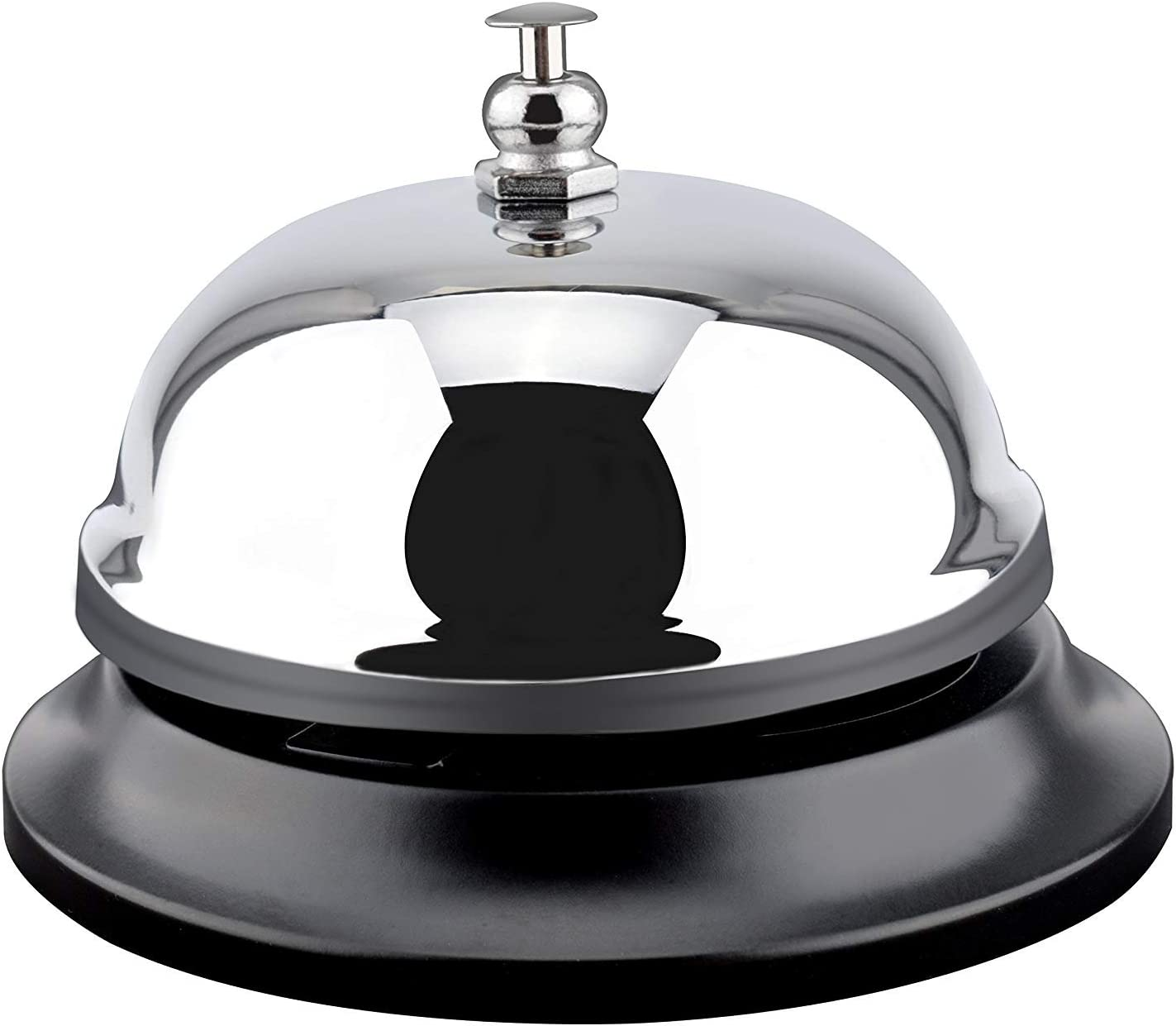 MROCO Big Call Bells, 3.38 Inch Diameter, Chrome Finish, All-Metal Construction, Desk Bell Service Bell for Hotels, Schools, Restaurants, Reception Areas, Hospitals, Warehouses (Silver) : Office Products