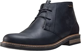 Mens Barbour Readhead Office Smart Ankle Shoes Leather Chukka Boots - Black - 9