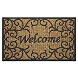 Achim Home Furnishings COM1830VN6 Vines Coco Door Mat, 18 by 30'