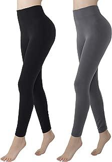 Womens Fleece Lined Leggings High Waisted Soft Slimming Winter Warm Leggings