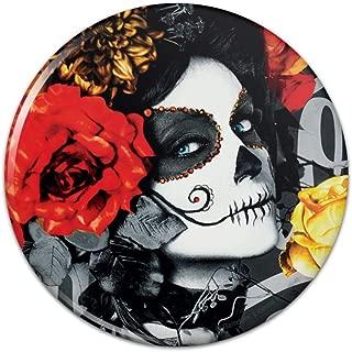 Dia de los Muertos Day of the Dead Woman Tattoo Compact Pocket Purse Hand Cosmetic Makeup Mirror