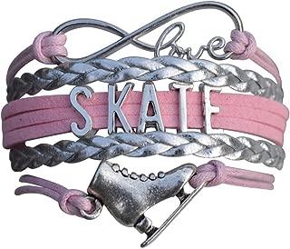 Figure Skating Bracelet, Figure Skating Jewelry, Ice Skating Jewelry, Ice Skate Charm Bracelet - Perfect Figure Skating Gifts