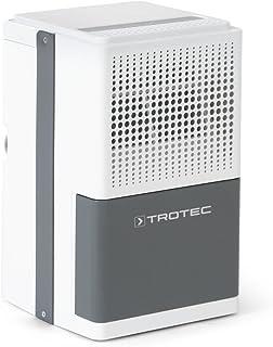 TROTEC Deshumidificador eléctrico TTK 25 E, 10L/24h, Indicador LED, Depósito 1,9 L, Portátil, Para Habitaciones de hasta 15m²/37m³, Compacto, Silencioso, 200 W, Auto-Apagado