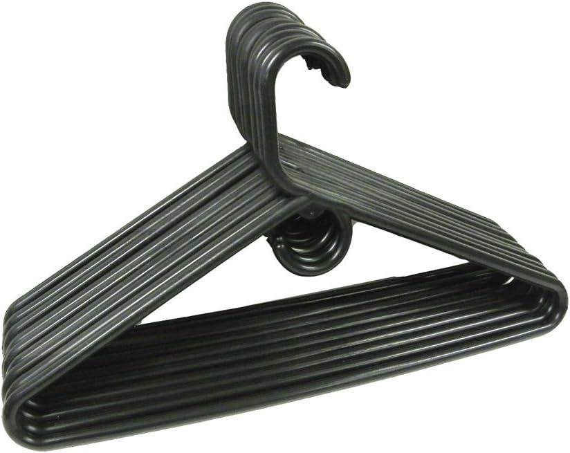 THE UM24 Set of 9 Heavy Tubular Free Shipping Cheap Bargain Spring new work Gift Plastic Jumbo Duty Black Hangers