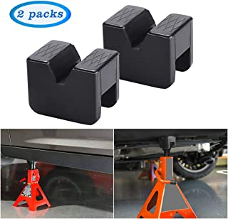 Neworld Jack Pad Adapter for Jack Stand Universal Rubber Slotted Frame Rail Pinch welds Protector (Jack Stand Pads 2pack)