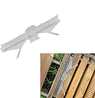 HunterBee 8 frame Beehive Plastic Entrance Reducer Gate Treated Anti-Escape and Mouse mice Guard