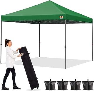 ABCCANOPY タープテント ワンタッチ アウトドア タープ テント 3m/2.5m/2m 遮熱 大型テント シェード 3段階調節 日除け 高強度スチールフレーム キャスターバッグ付き 組立簡単 高耐水圧 付属品付き