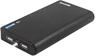 20000mAh Power Bank(Compact Portable Charger) with Flashlight, Dual-Port Output External Battery for iPhone, iPad, Samsung Galaxy and More -Tinkon (Black)