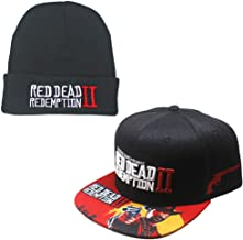 Game Fans Red Dead Redemption 2 Adjustable Unisex-Adult Sport Flat Cap and Huset Keep Warm Cuff Knit Hat