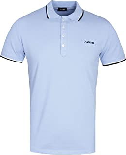 Diesel T-Randy Broken Logo Sky Blue Polo Shirt