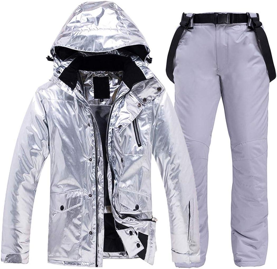 Combinaison de Ski pour Hommes et Femmes imperm/éable Hiver de Plein air Sport Veste de Ski et Un Pantalon Ensemble Snowboard Smow Costume