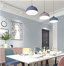 Moderne eenvoud vliesbehang 3D 9,5 m x 0,53 m effen gekleurde krijtstrepen effen lichtblauw behang voor slaapkamer woonkam...