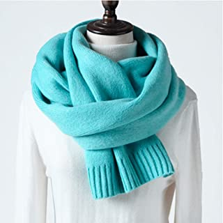 WYMAI Women's Scarves, Winter Shawls, Shawls, Scarves, Best Gifts Simple and Practical Product (Color : Blue)
