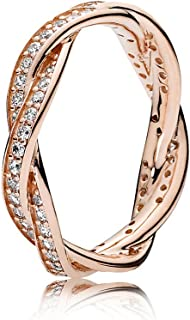 Pandora 潘多拉 女士戒指 周年纪念 银色镀金 52 (16.6) 180892CZ