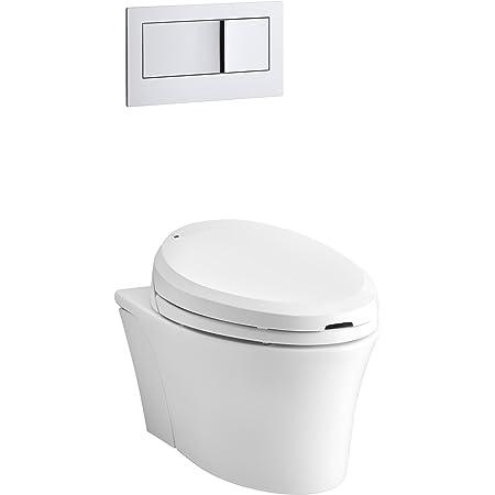KOHLER K-6300-0 Veil Wall-Hung Elongated Toilet Bowl, White