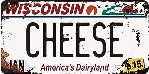 Panguru Replica Vintage License Plate, Embossed Metal Number Tags, Prop Vanity Car Registration Plates, 12x6 inch (Wisconsin 001)