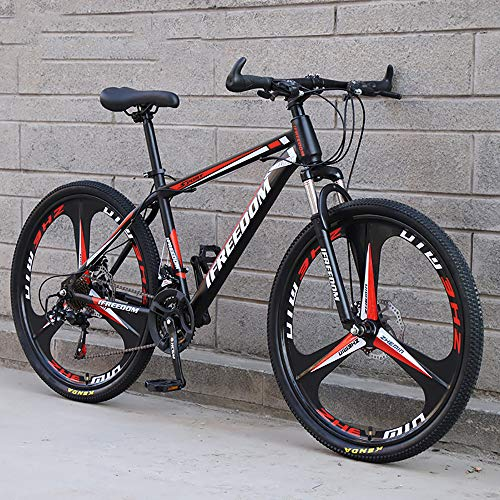 XQY 29 Inch High Carbon Steel Male and Female Mountain Bike 21-Speed Full Suspension Mountain Bike for Men and Women,Red