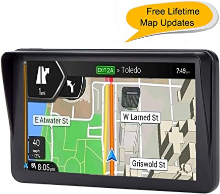 Car GPS, 7 inches Navigation System for Cars Lifetime Map Updates Touch Screen Real Voice Direction Vehicle GPS Navigator