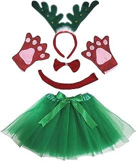 Petitebella 3D Headband Bowtie Tail Gloves Tutu Unisex Children 5pc Girl Costume