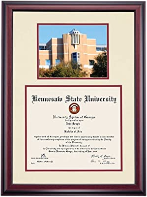 a983ec4a8d1 Campus Linens Kennesaw State Owls Diploma Frame Ivory Maroon Matting  Photograph