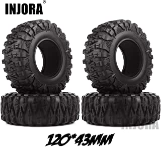 4PCS 2.2 Rubber Mud Grappler Tires for 1:10 RC Crawler Axial SCX10 SCX10 II 90046 90047 Traxxas TRX4