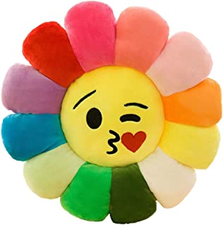 14''Colorful Sunflower Plush Stuffed Pillow Plush Toys...