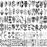 72 Sheets Tiny Temporary Tattoos Stickers, Fake Body Art Tattoos for Men and Women