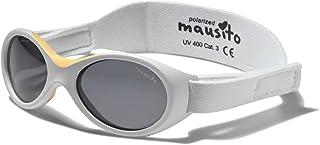 Mausito - Gafas de sol polarizadas de bioplástica para bebés de 0 a 1 año, para niños y niñas, 100 % protección UV, correa ajustable, suave sujeción para la nariz, gafas de sol para bebés