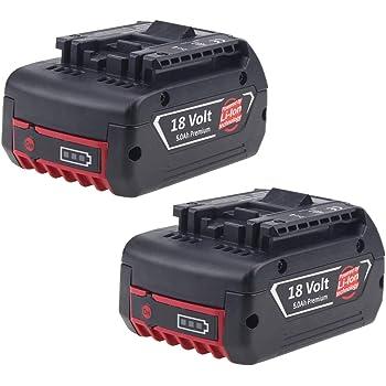 2X Boetpcr BAT609 Reemplazo para Bosch Batería 18V 5000mAh Li-ion BAT609 BAT610G BAT618G BAT620 Taladro Herramientas: Amazon.es: Electrónica