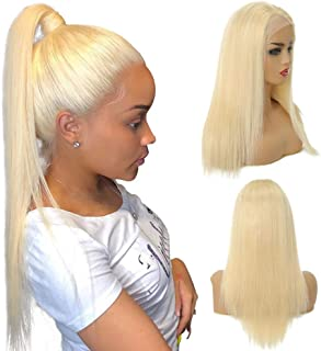 Best straight blonde human hair wig Reviews
