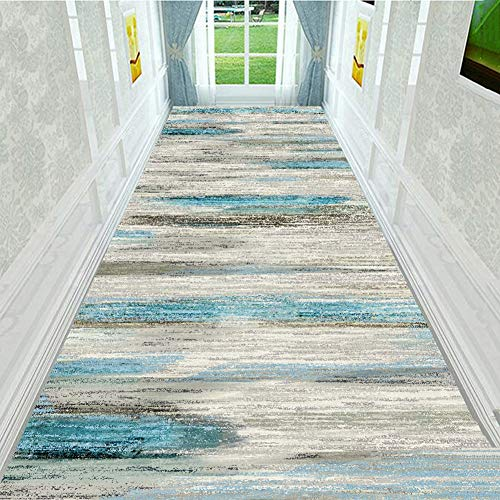HLMIN Hallway Runner Rug,Non Slip Durable Runner Soft Hallway Rug For Stairs Living Room Entrance Door Kitchen,3D Printed Carpet (Color : A, Size : 0.6x5.5m)
