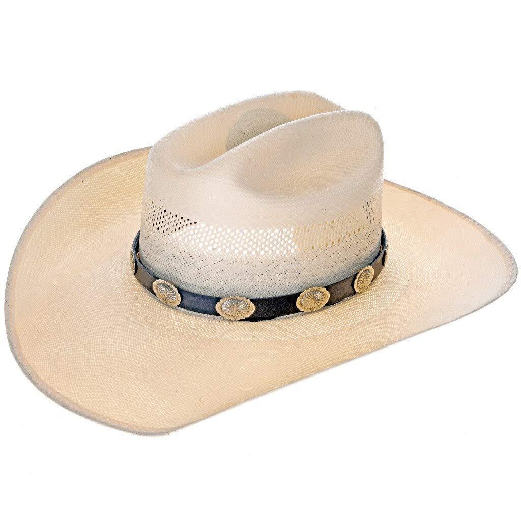 Silver Concho Hatband Handmade 2192 Navajo Max 82% OFF Accessory Sales results No. 1 Leather