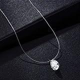 N/A Collar Collar de Cadena Invisible Collar de línea Transparente Collar de Resina Transparente Femenina Collar Colgante Cadena de clavícula
