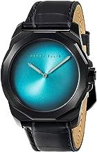 Perry Ellis Mens Watch Decagon Fading Dial Quartz Luminous Watch Leather Band Men Watch