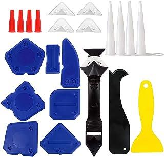 Sponsored Ad – 23PCS Caulking Tool Kit, WOVTE Silicone Tool Kit with Caulk Remover Sealant Finishing Tool, 3 in 1 Grout Sc...