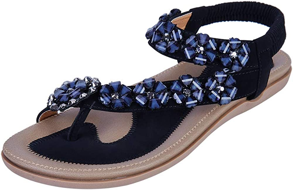 Colgo Women's Thong Flat Sandals Flip Beaded New York Mall Limited time cheap sale Flo Glitter Casual