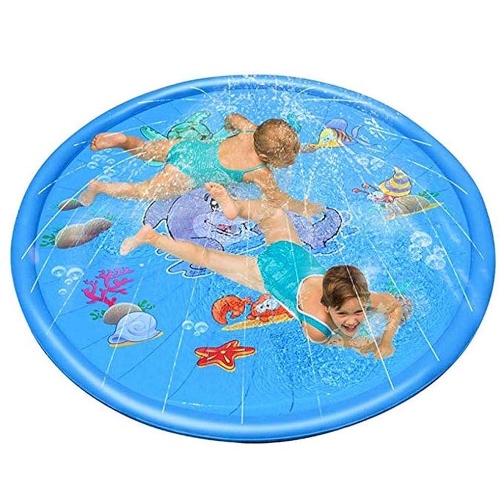悩む偏心軽蔑するJanusSaja ?スプリンクラーパッド、振りかけるスプラッシュプレイマットパッドのおもちゃ、子供水プールインフレータブル屋外夏水おもちゃ