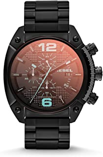Diesel Men's Overflow Quartz Stainless Steel Chronograph Watch, Color: Black (Model: DZ4316)