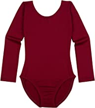 Leotard Boutique Dance Leotards for Girls | Long Sleeve Scoop Neck Toddler and Girls Leotard Sizes from Extra Small - Youth