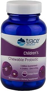 Trace Minerals Children's Chewable Probiotic 3 Billion Supplement, 30 Count, 4 Strains, Sugar Free, Bifidobacterium and La...