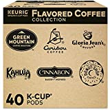 Includes 4 K-Cup pods from 10 varieties of delicious flavored coffees. Sample different coffees and discover your favorites from a wide variety of flavors, and brands Contains authentic Keurig K-Cup pods, engineered for guaranteed quality and compati...