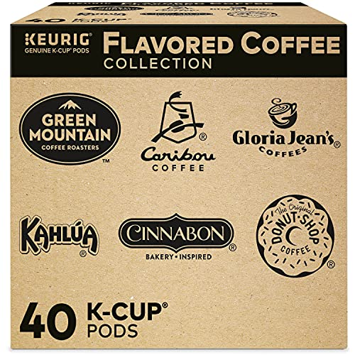 Keurig Flavored Coffee Pods Collection Variety Pack, Single-Serve Coffee K-Cup Pods Sampler, 40 Count