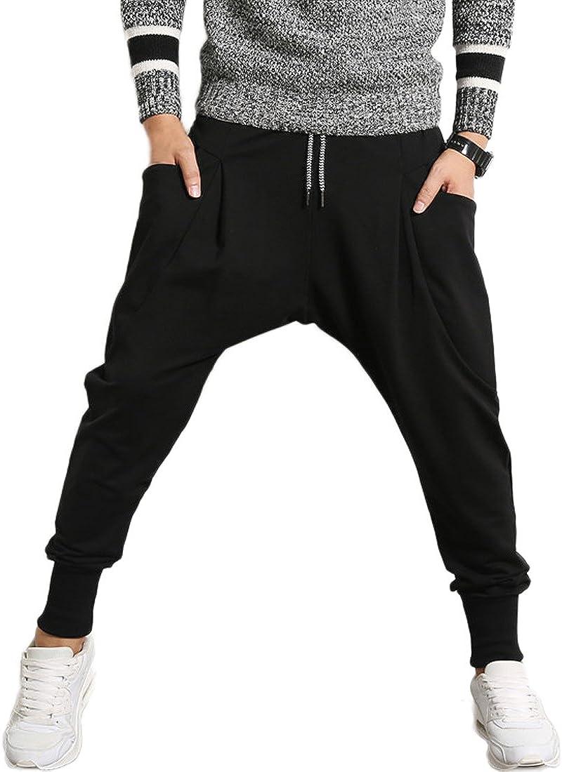 pantaloni sportivi da uomo Mirecoo stile Harem in cotone larghi per il tempo libero